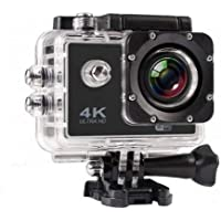 SYL PLUS 4K Ultra HD Water Resistant Sports WiFi Action Camera with 2 Inch Display (16MP, Black)