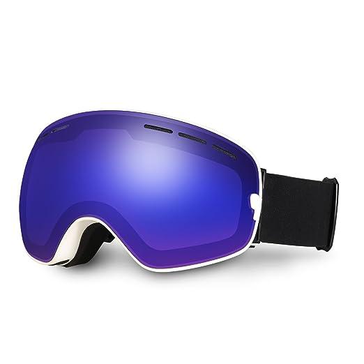 3 opinioni per Hicool Pro Unisex Maschera Snowboard per Sciare, Occhiali da Sci con Lente