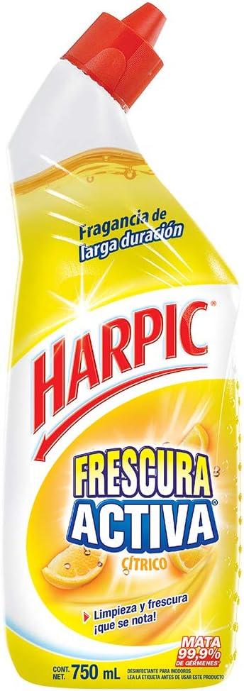 Harpic Frescura Activa Líquido Removedor de Sarro Fragancia Cítrica 750 ml