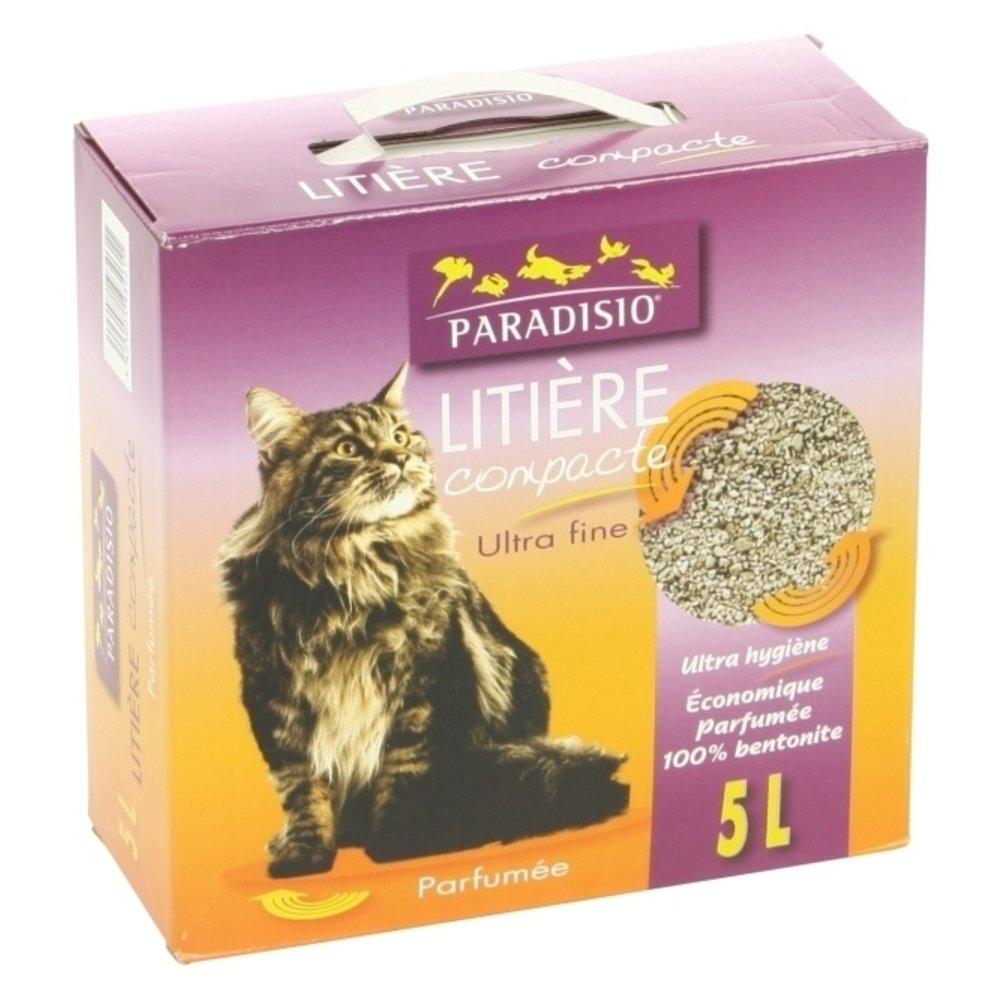 Paradisio - Litière Compacte Parfumée pour Chat - 5L