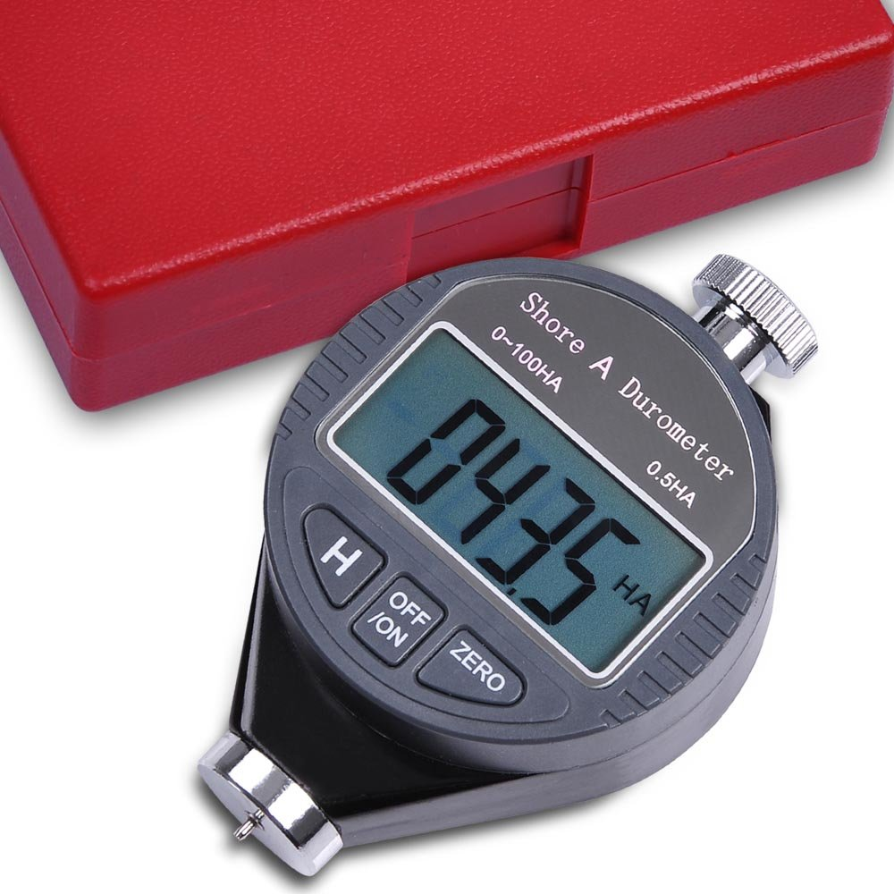 Digital Shore A Hardness Durometer 100ha Tester Tire Rubber LCD Display Meter Portable Compact Pocket Sized