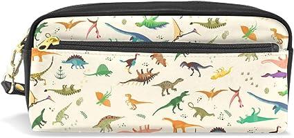 Estuche estuche con cremallera grande bolsa de maquillaje dinosaurios estuche para lápices para niños y niñas suministros escolares: Amazon.es: Oficina y papelería
