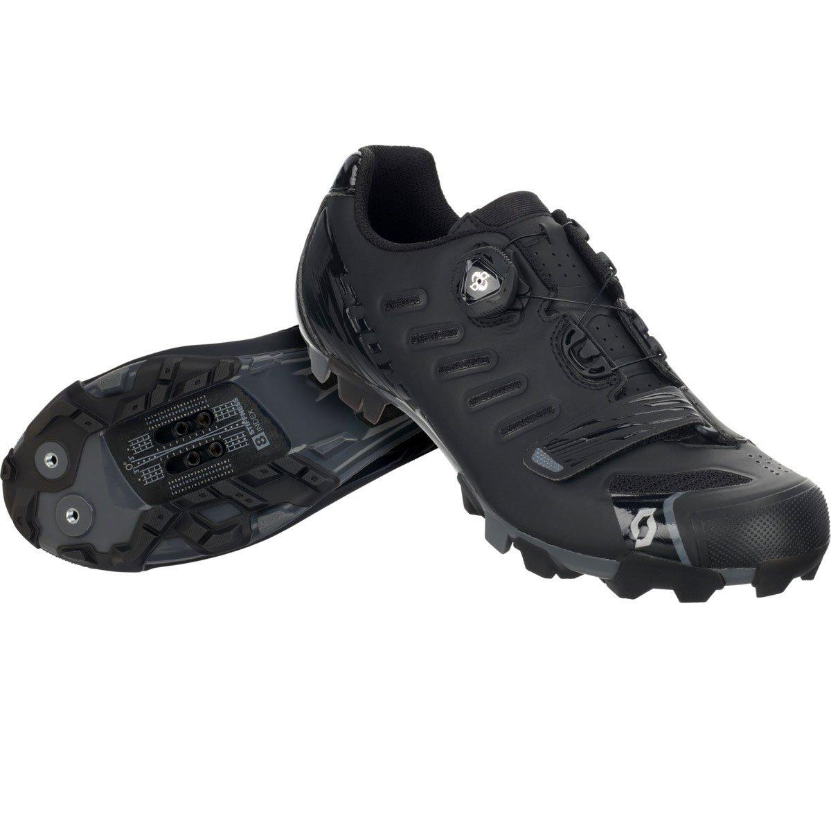 スコットMTB Team Boa Shoe – Men 'sマットブラック/グロスブラック、48.0   B01M1HLKM3