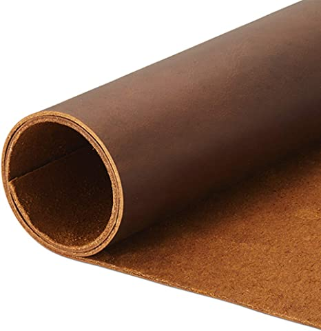 :: Bourbon Brown Hide /& Drink Thick Leather Scraps with Scars for Arts /& Crafts, Different Widths 12 oz Pack 5 to 8 in. Long