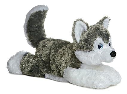 Amazon Com Aurora World Flopsie Plush Siberian Husky Dog Shadow 12