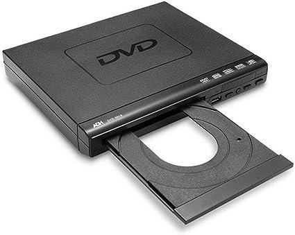Ashey Tragbarer Dvd Player Für Tv Unterstützung Usb Anschluss Kompakter Dvd Svcd Cd Disc Player Für Mehrere Regionen Mit Fernbedienung Hd Nicht Unterstützt Sport Freizeit