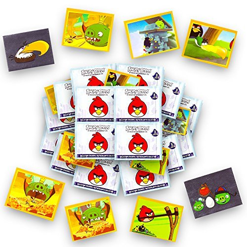 Angry Birds Stickers Party Favors Set -- 16 Sticker Packs (Angry Birds Party Supplies) -