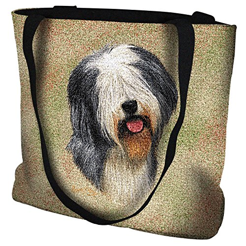 Pure Country Weavers - Old English Sheepdog Hand Finished Large Woven Tote Bag Cotton USA