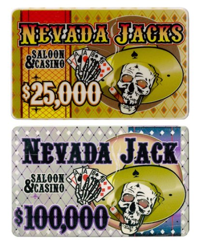 Brybelly Holdings PCB-2512 5 of Each Nevada Jack 40 Gram Ceramic Poker - Ceramic Chip Poker Plaque