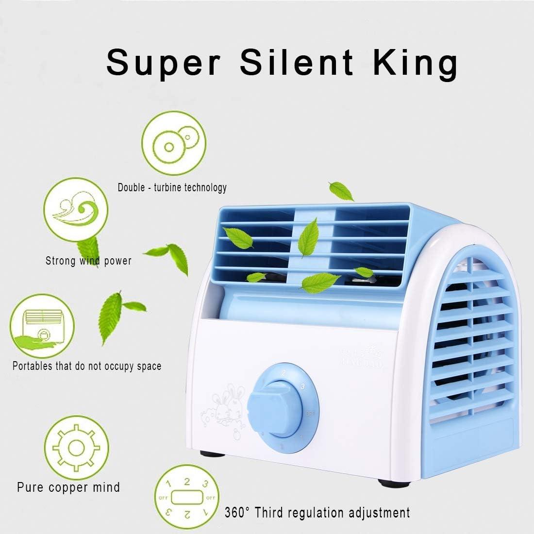 Pink AC 220V Color : Green Hard Comfortable Shockproof Protective case 30W Turbine No Blade Mini Desktop Mute Fan for Dormitory//Bedroom//Living Room//Office 3 Kinds Speed Mode