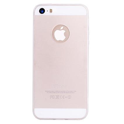 Funda iPhone SE, Carcasa iPhone 5S, WindTeco Mate Case Ultra Delgado TPU Goma Flexible Cover Protectora Carcasa de Silicona Gel Suave Bumper Case para ...