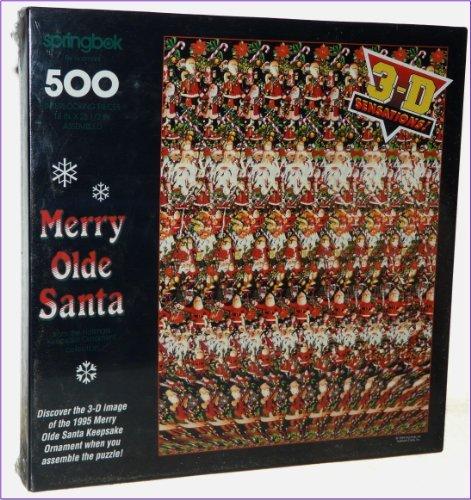 Merry Olde Santa 500 Piece Jigsaw Puzzle by Springbok