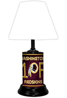 Amazon nfl washington redskins table lamp with die cut lamp washington redskins table lamp mozeypictures Image collections