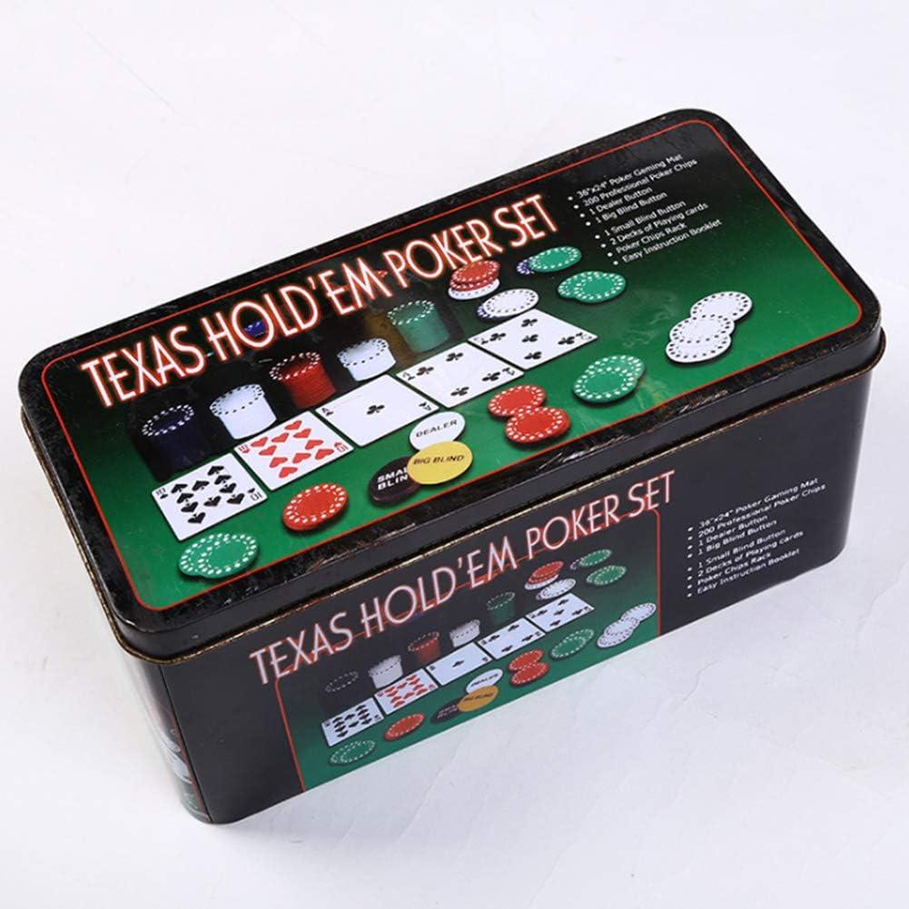 ningdeCK Game Poker Set 200pcs Entertainment Digital Portable Fun Lightweight Toy With Chips Club Casino Adult Aluminium Case