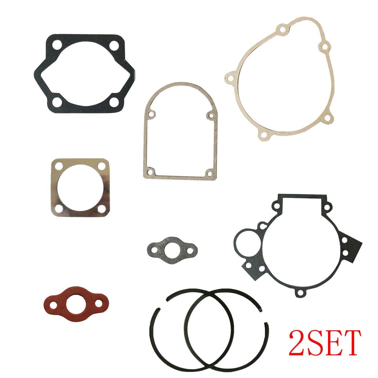 New 2x Gasket Kit & 4xPistion Rings Fit 80cc Motorized Bicycle Bike Motor JL JIANGLI LEGEND
