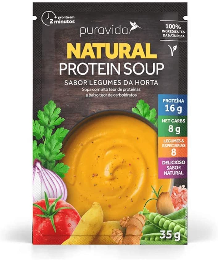 Sopa Protein Soup Legumes da Horta PuraVida 35g por Puravida