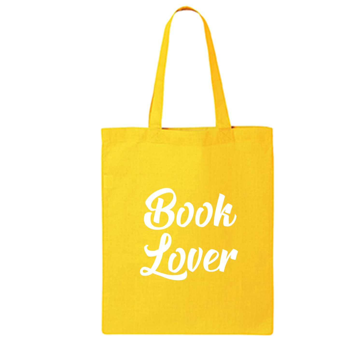 Book Lover Cotton Canvas Tote Bag in Yellow - One Size