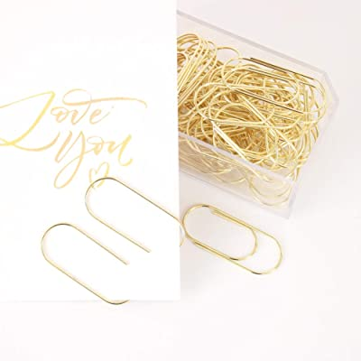 OUTU Factory Supply 50pcs/Box 50x21mm Large Size Paper Clips