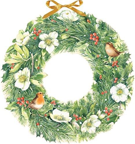 Marjoleins zauberhafter Weihnachtskranz. Wandkalender Marjolein Bastin Coppenrath F Weihnachten Advent / Geschenkband