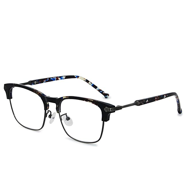 f2184637679 Galulas Vintage Eyeglasses for Men Women Classic Clear Lens Blue Light  Blocking Reading Glasses Optical Eyewear