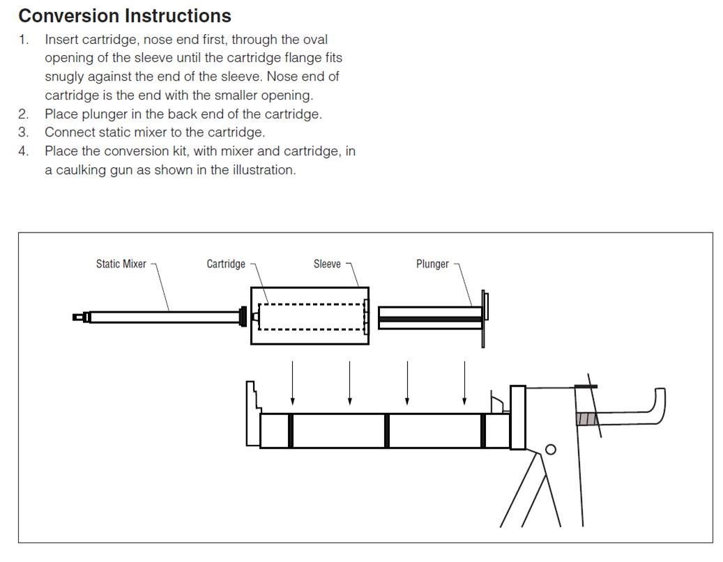 3M ScotchWeld DP420 Off-White 20-Minute Toughened Epoxy Adhesive Caulk Adapter Kit (50ml w/Caulk Gun Adapter Kit) by MMM-3M Scotch-Weld (Image #6)