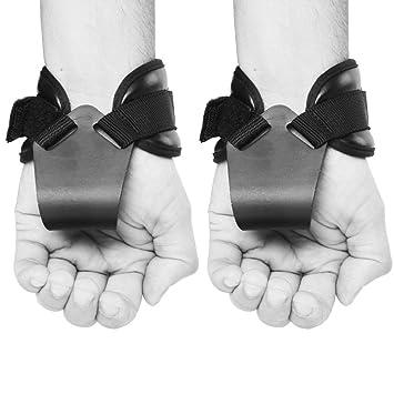 Ultra Fitness (par) peso levantamiento gimnasio Reverse ganchos correas entrenamiento CrossFit envuelve mano Bar pesas neopreno acolchado con ganchos de ...
