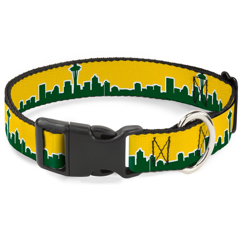 Green 1.5\ Green 1.5\ Buckle-Down PC-W34547-WL Dog Collar Plastic Clip Buckle, Green, 1.5  x 18-32
