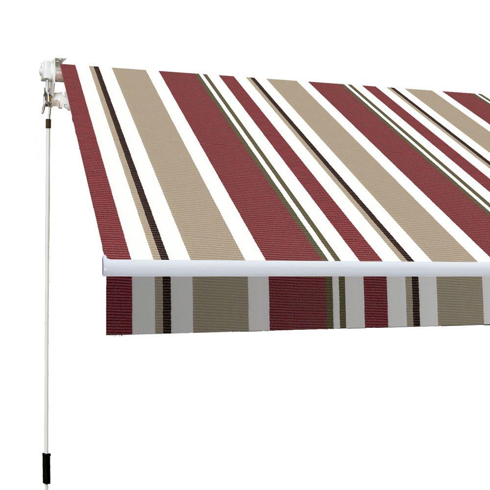 Beige SMARTSUN Markise Classic 4x2,5m Polyester Bordeauxrot