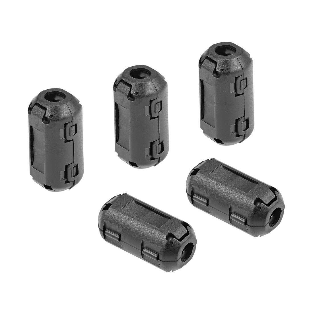 Grey 5pcs sourcing map 3.5mm Ferrite Cores Ring Clip-On RFI EMI Noise Suppression Filter Cable Clip
