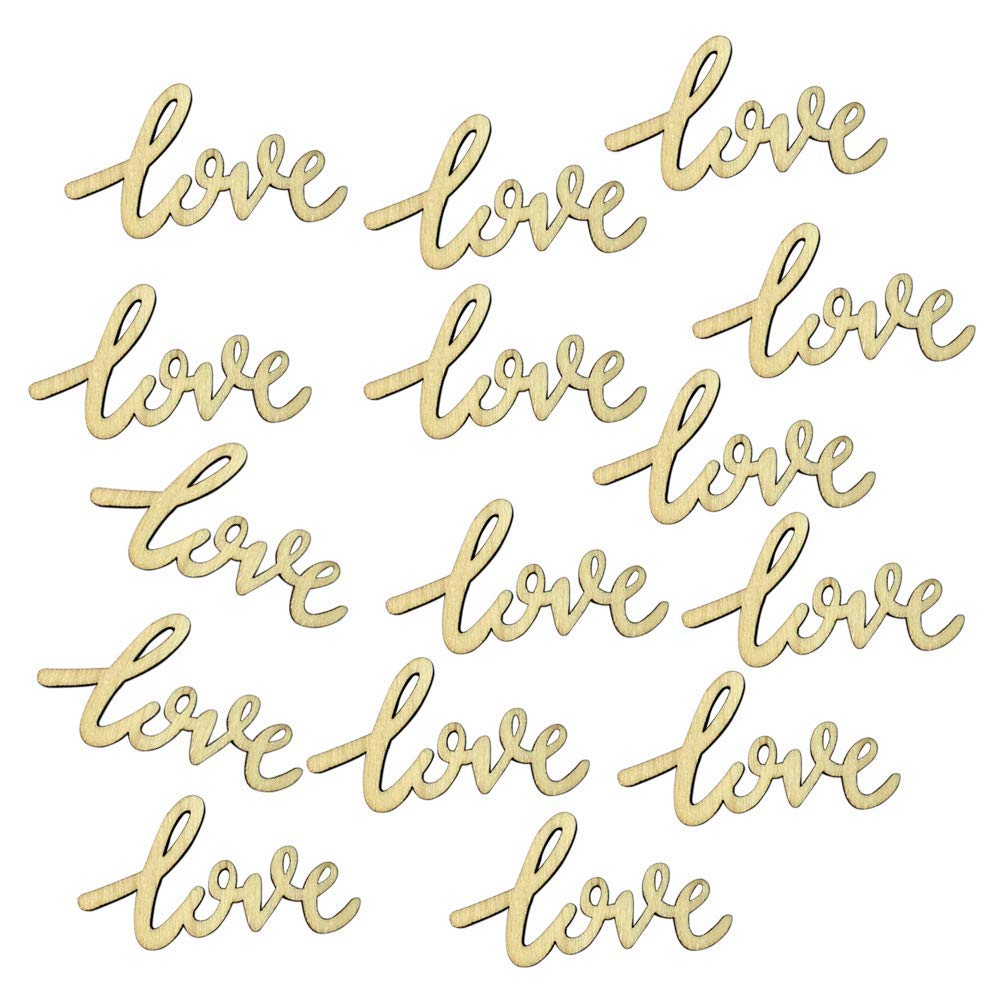 Yevison 15Pcs Rustic Wooden Letter Love Table Confetti Wedding Party Scatter Decoration Durable and Useful