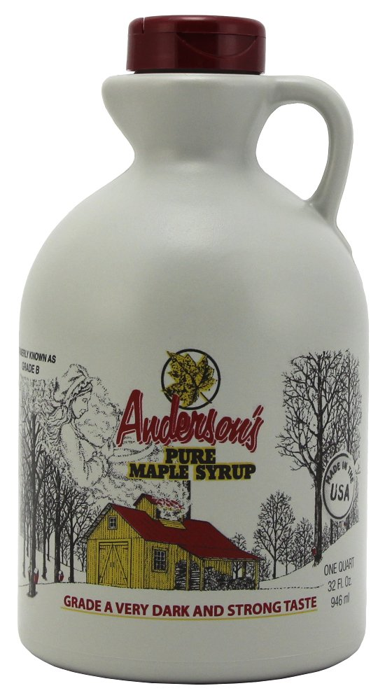 Anderson's Pure Maple Syrup, Grade A Very Dark/Grade B, 32 Ounce (Frustration Free Packaging) by Anderson's (Image #1)