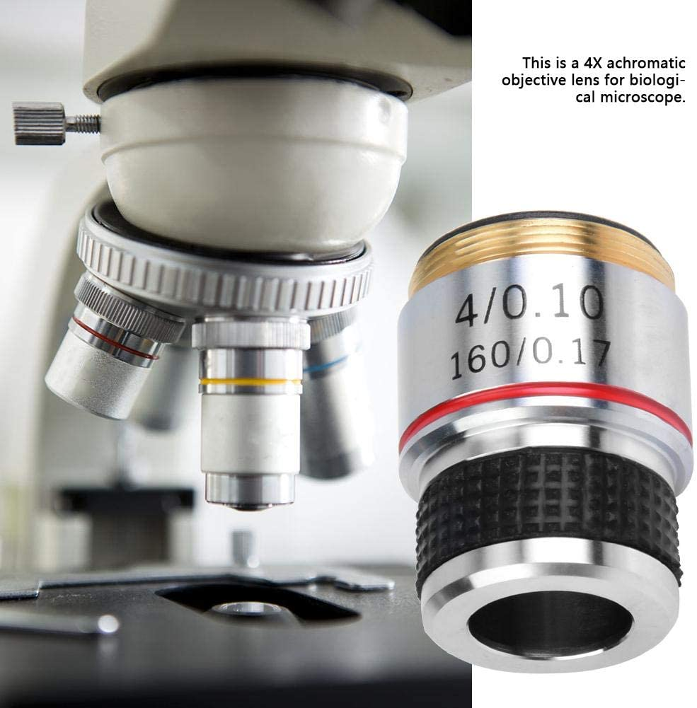 Portable 4X 185 Biological Microscope High Accuracy Achromatic Objectives Lens 160//0.17 for Biological Microscope