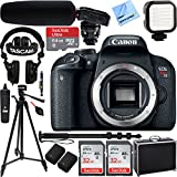 Canon EOS Rebel T7i DSLR Camera + EF-S 18-55mm is STM & 55-250mm is II Lens + 64GB Extreme SDXC Memory UHS-I Card + Accessory Bundle (Camera Body Pro Audio Video Kit)