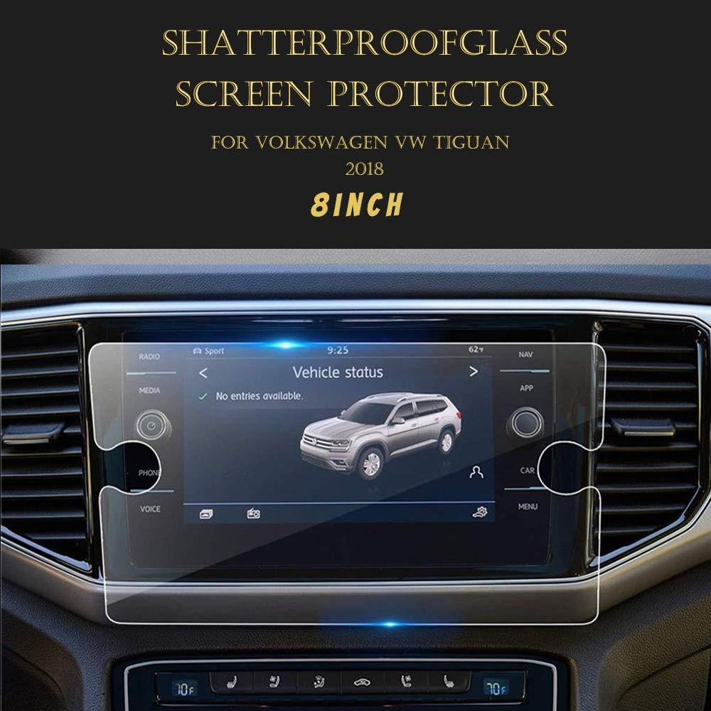 AjaxStore - 6.5 8 Inch Tempered Glass Screen Protector GPS Navigation HD Guard For Volkswagen Tiguan MK2