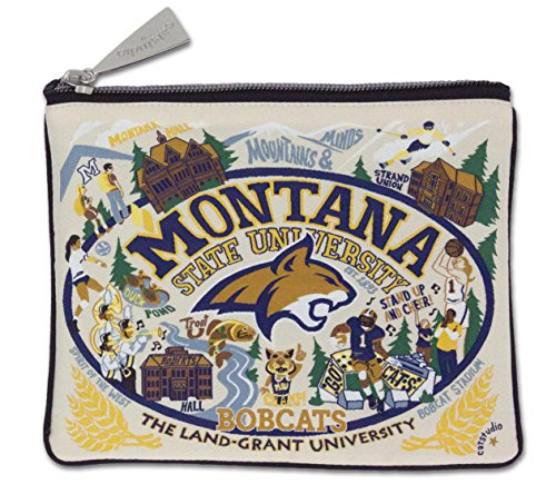 Catstudio Montana State University Zip Pouch | Use as Wallet, Clutch, Handbag or Makeup Bag