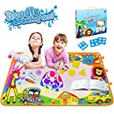 """Betheaces Water Drawing Mat Aqua Magic Doodle Kids Toys Mess Free Coloring Painting Educational Writing Mats Gift for Toddlers Boys Girls Age of 2,3,4,5,6 Year Old Size 34.5"""" X 22.5"""" in 6 Colors"""