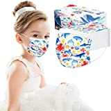 Kids' Disposable 3-Layer Protective, 3-D Perfect Fit, Soft Skin Layer, Face Covering Filter for Girls Boys School…