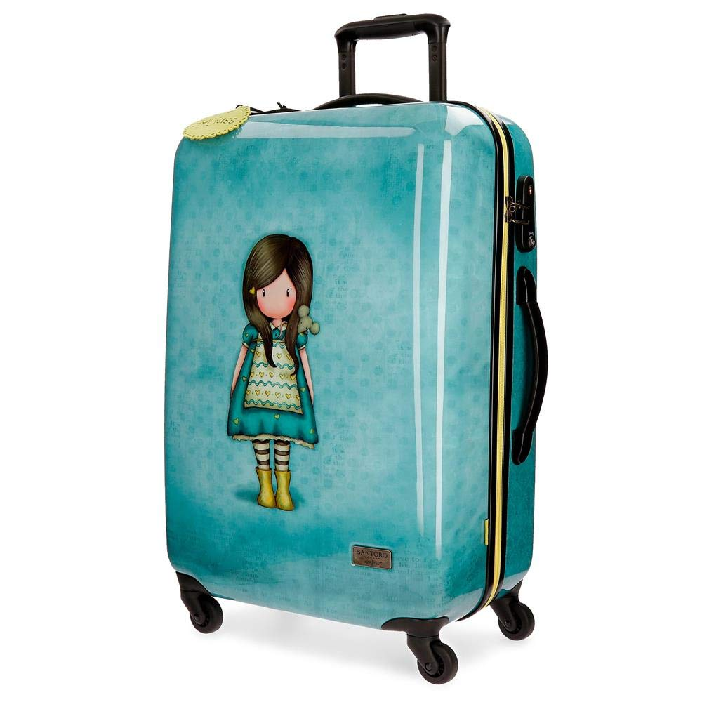 Gorjuss The Little Friendスーツケース、67 cm、64リットル、グリーン(Verde) B07G5X74XJ