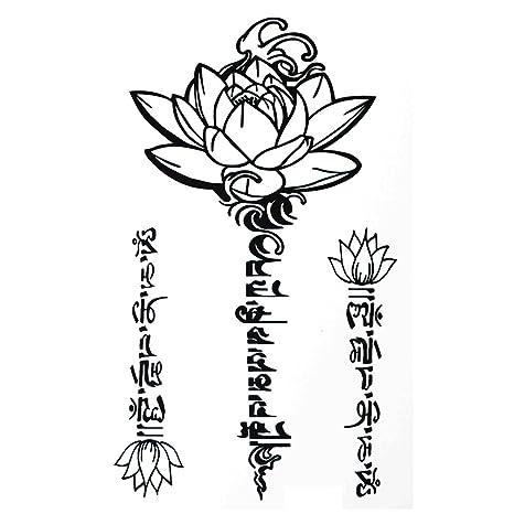 Cokohappy temporary tattoo sanskrit tibetan lotus amazon beauty cokohappy temporary tattoo sanskrit tibetan lotus mightylinksfo
