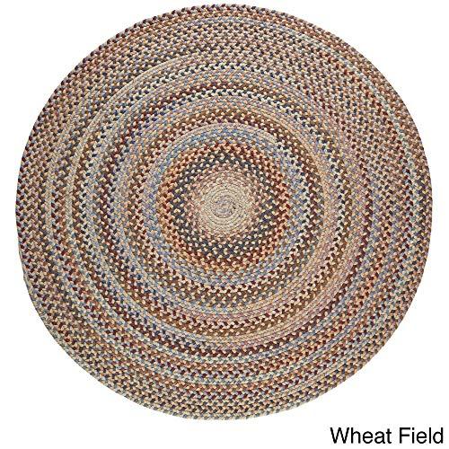 Rhody Rug Augusta Round Braided Wool Rug (8' x 8') Wheat