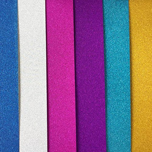 "Glitter Cardstock, Misscrafts 10 Sheets 12"" x 8"" Sparkling Glitter Cardstock 250gms Scrapbooking Craft Paper for Cardmaker DIY Christmas Wedding Birthday Decoration Craft (Mixed Colors)"