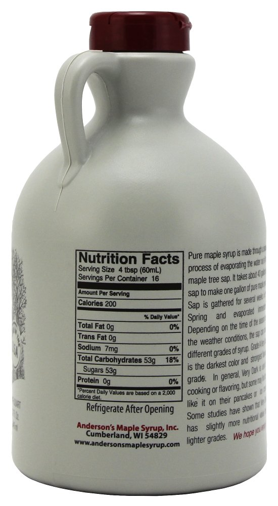 Anderson's Pure Maple Syrup, Grade A Very Dark/Grade B, 32 Ounce (Frustration Free Packaging) by Anderson's (Image #6)
