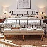 iNSPIRE Q Bordeaux Window Geometric Metal Bed by Classic King