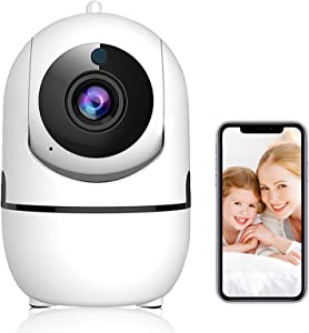 1080P HD Dog Camera with Phone App,Baby Monitor with Camera and Audio, Indoor WiFi Home Security Camera System for Pet/Baby/Elder ,2-Way Audio, Night Vision, AI Detection, Sound & Activity Alert