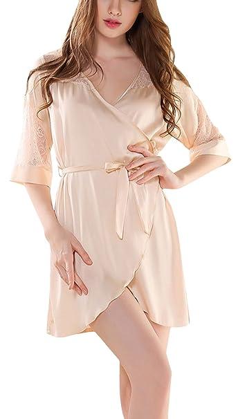 EOZY Vestido de Pijama Mujer Elegante Bata para Casa Verano: Amazon.es: Ropa y accesorios