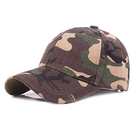 95754cb9070 King Star Men Cotton Dad Hat Camouflage Adjustable Baseball Cap Army Green