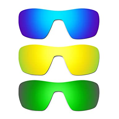 63d7c5375fb Hkuco Mens Replacement Lenses For Oakley Offshoot Blue 24K Gold Emerald  Green Sunglasses