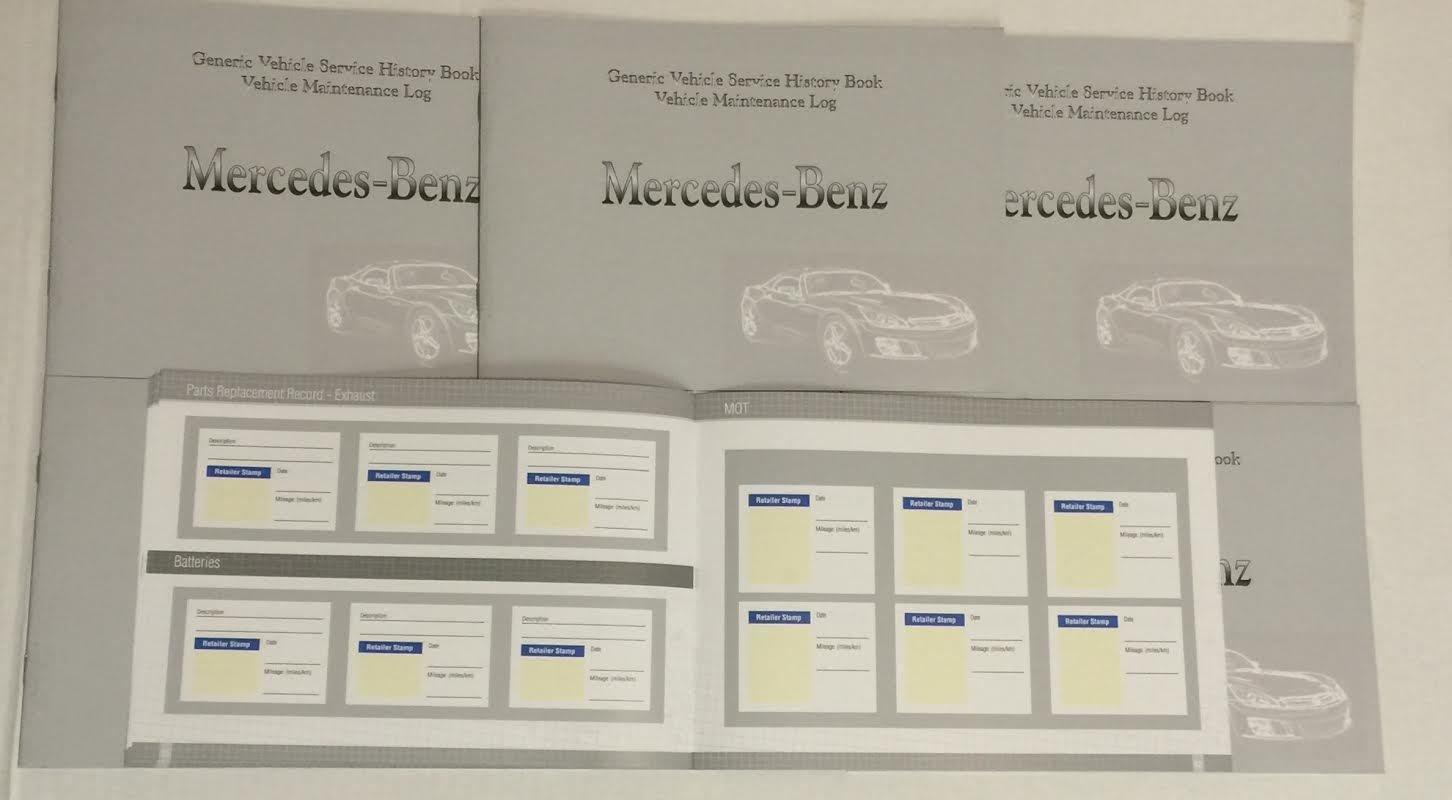 Amazon.es: Cuaderno genérico de historial de mantenimiento apto para todos los coches Mercedes (en inglés)