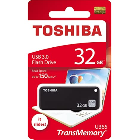 Toshiba Yamabiko THN-U365K0320A4 32GB USB 3.0 Pendrive (Black) Pen Drives at amazon