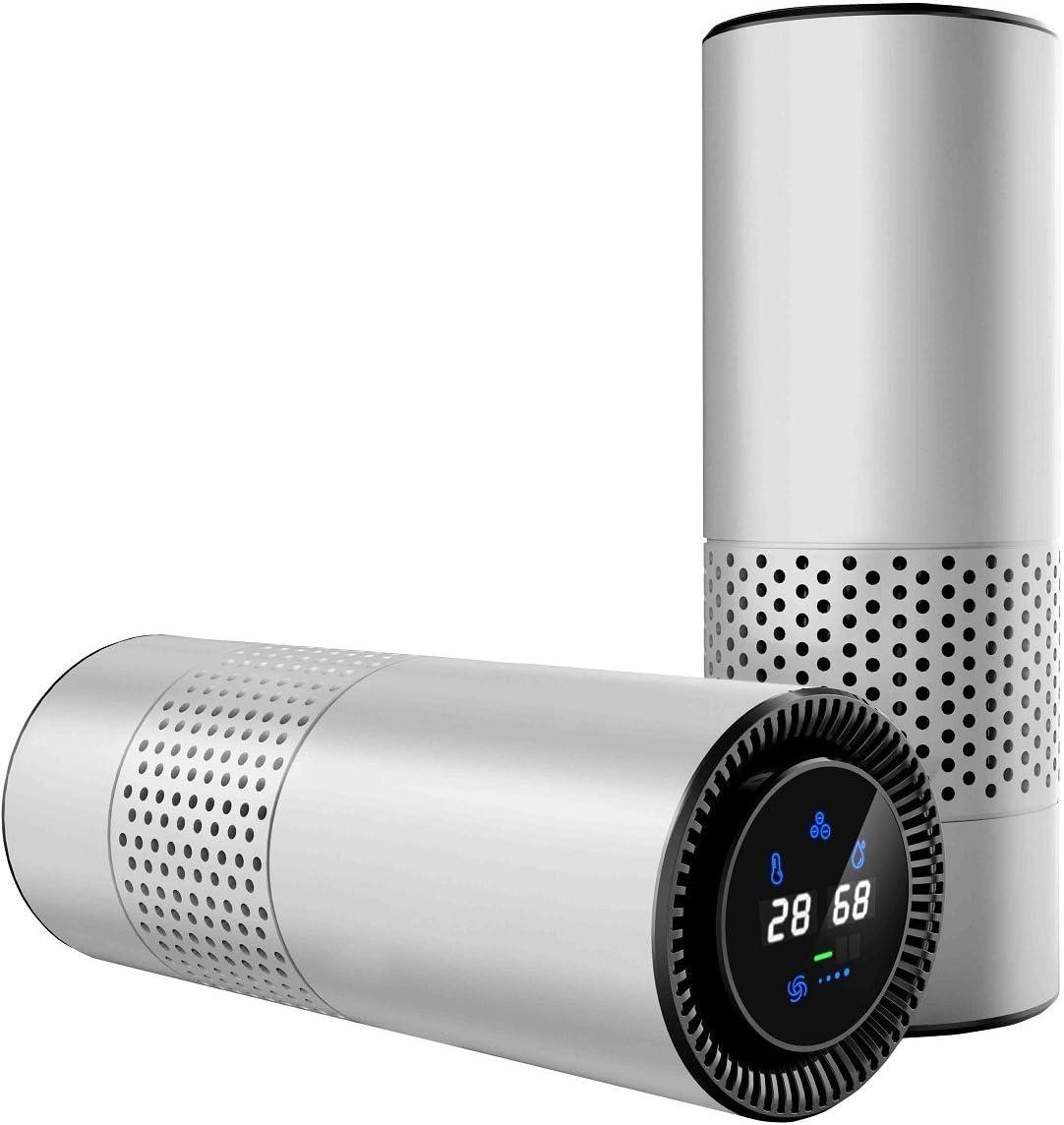 LEADYOUNG Control de Gestos HEPA purificador de Aire para los Enfermos de alergia, Eliminar el Polvo de Fumar Polen y Malos olores, Escritorio de Oficina de Coche y Dormitorio (Plata): Amazon.es: Hogar